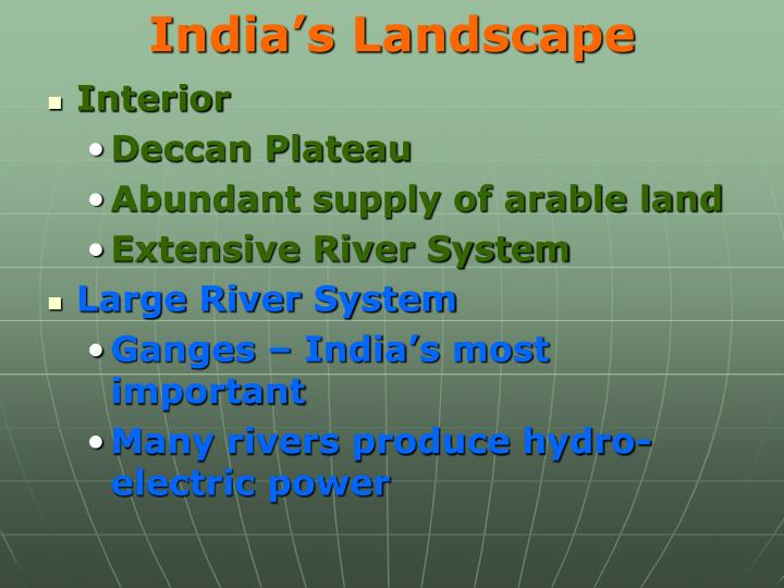 India's Landscape
