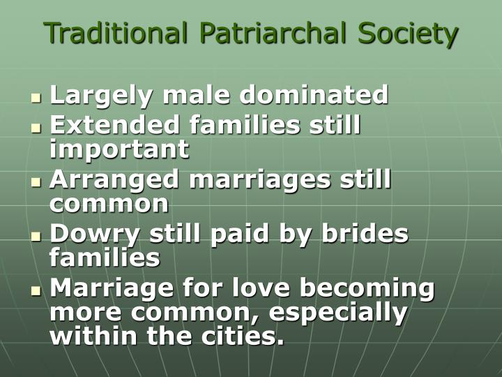 Traditional Patriarchal Society