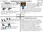 addition concepts ac