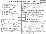 numbers patterns to 100 100