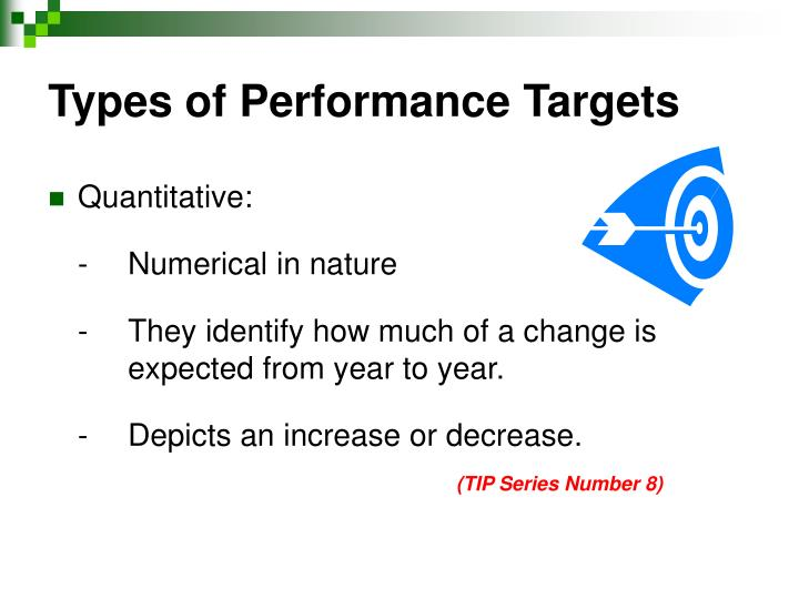 Types of Performance Targets