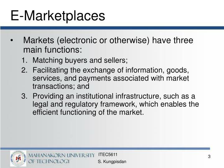 E marketplaces