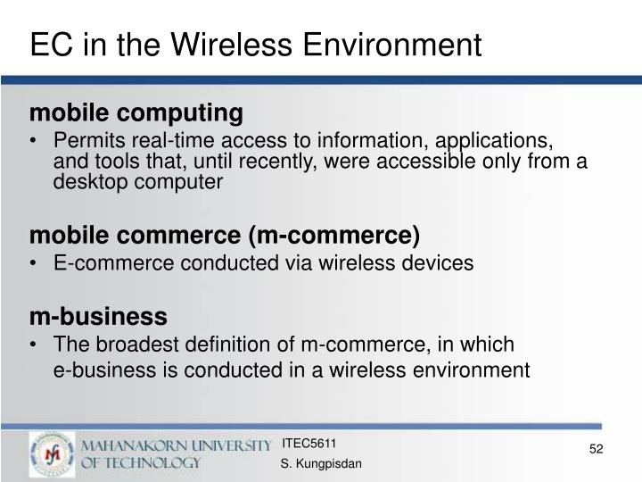 EC in the Wireless Environment
