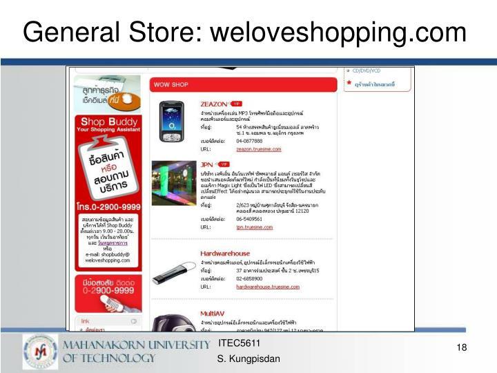General Store: weloveshopping.com
