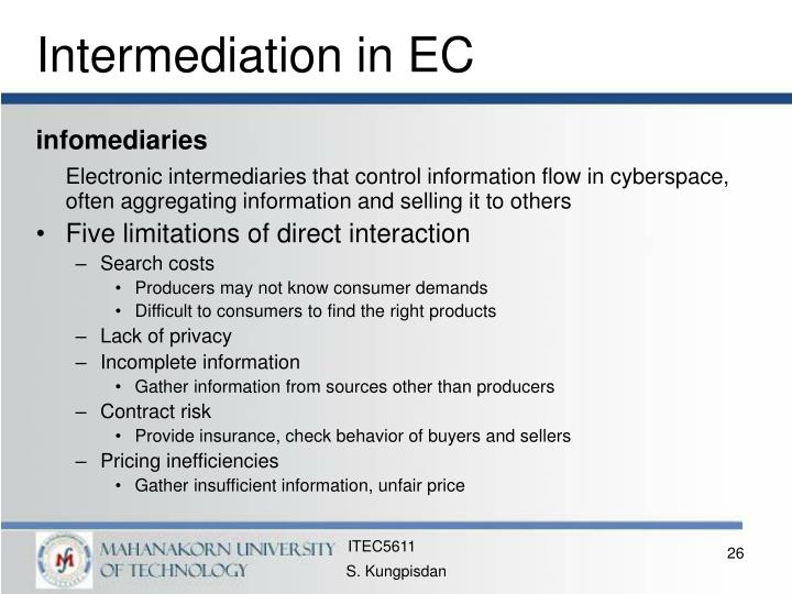 Intermediation in EC