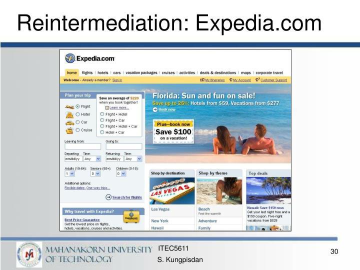 Reintermediation: Expedia.com