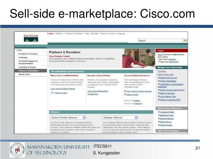 Sell-side e-marketplace: Cisco.com