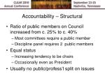 accountability structural