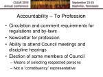 accountability to profession