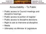 accountability to public