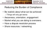 reducing the burden of compliance