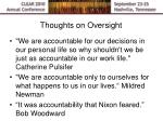 thoughts on oversight1