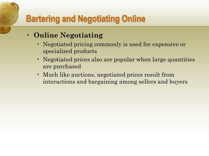 Bartering and negotiating online1