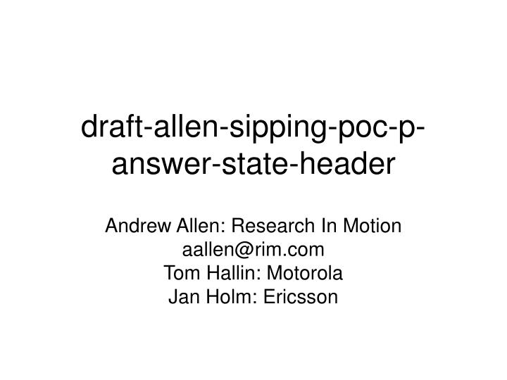 draft allen sipping poc p answer state header n.