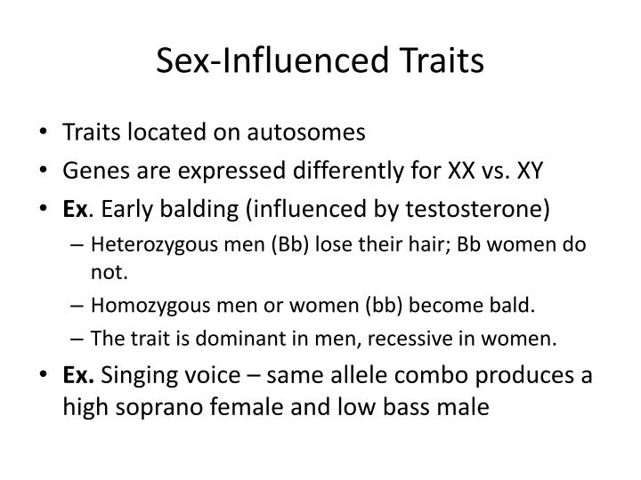 what is a sex influenced trait