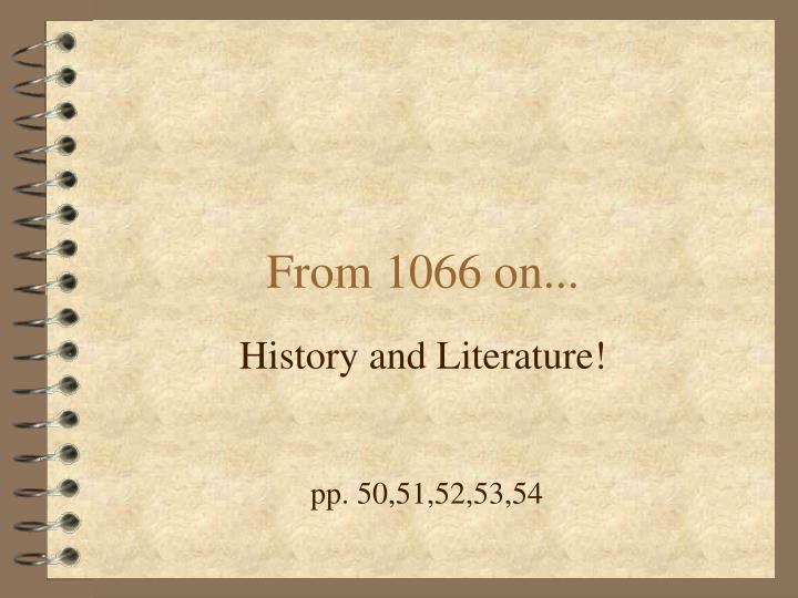 from 1066 on n.
