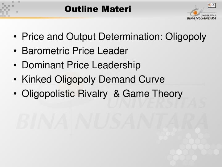 price leadership in oligopoly