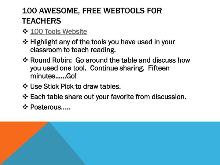 100 awesome free webtools for teachers