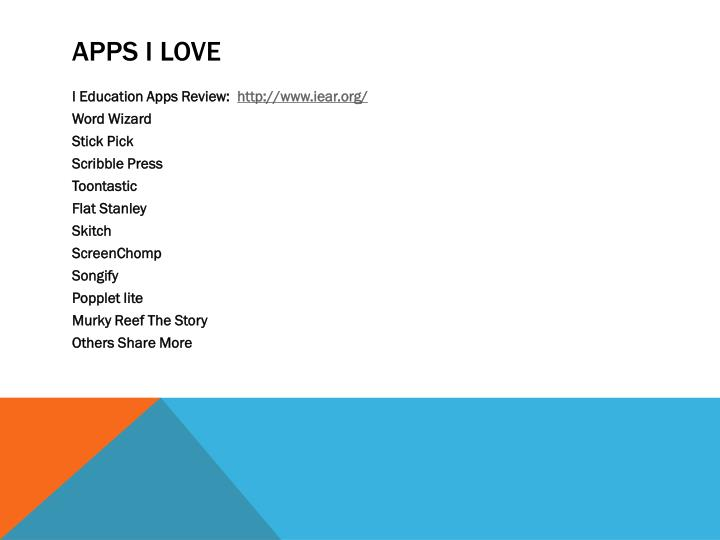 APPS I Love