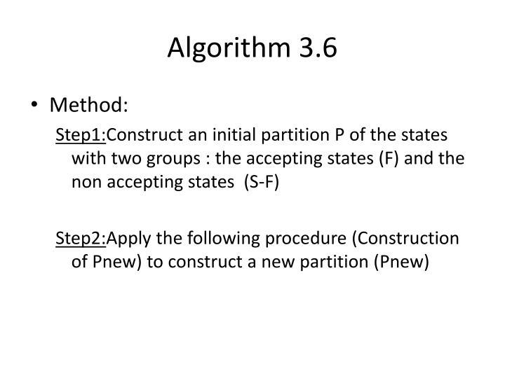 Algorithm 3.6