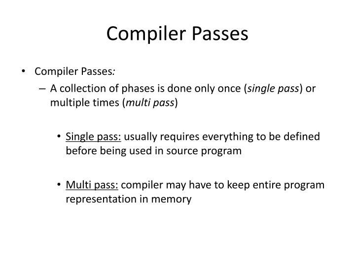 Compiler Passes
