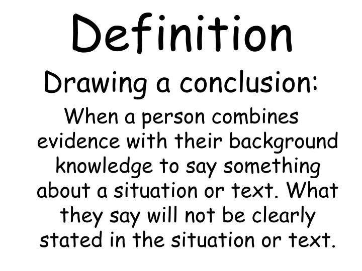 in conclusion definition