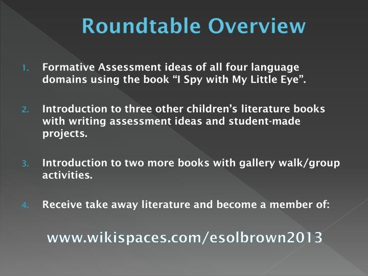 Roundtable Overview