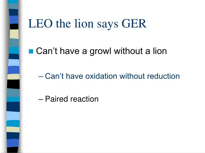 LEO the lion says GER