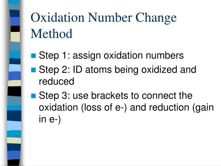 Oxidation Number Change Method