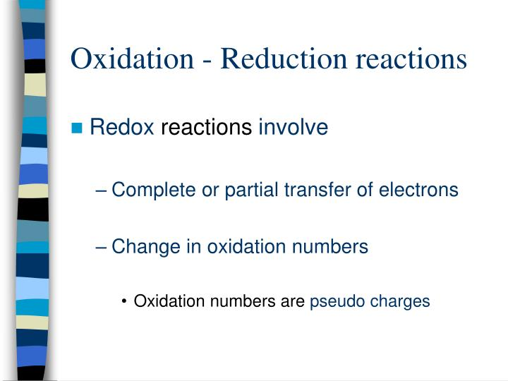 Oxidation reduction reactions1