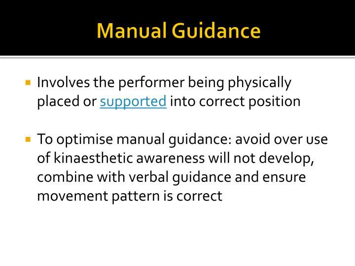Manual Guidance