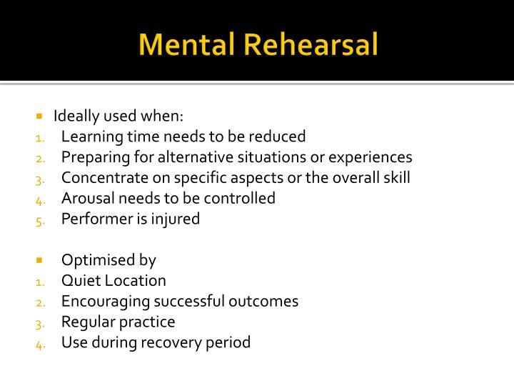 Mental Rehearsal