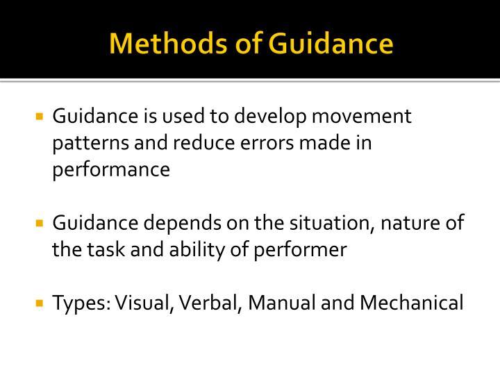 Methods of Guidance