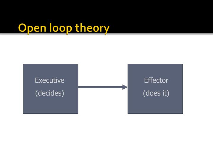Open loop theory