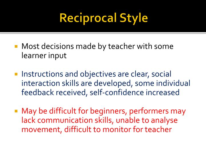 Reciprocal Style