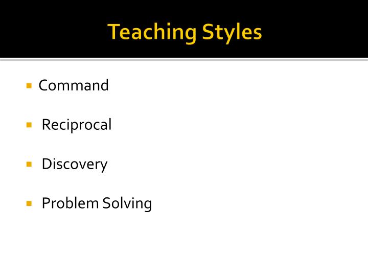 Teaching Styles