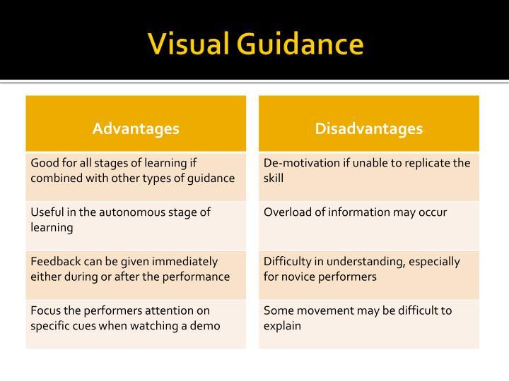 Visual Guidance