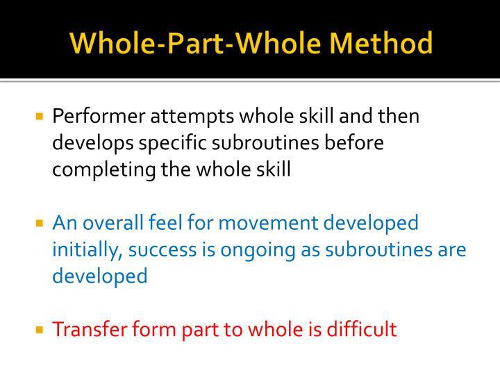 Whole-Part-Whole Method