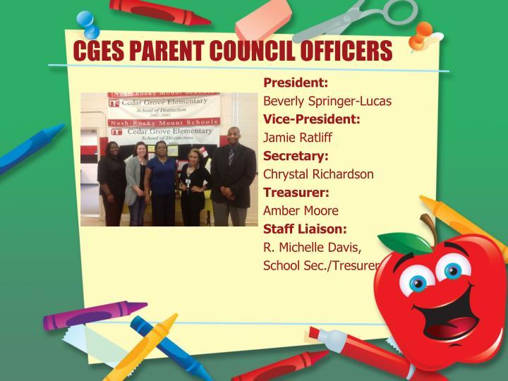 CGES PARENT COUNCIL OFFICERS