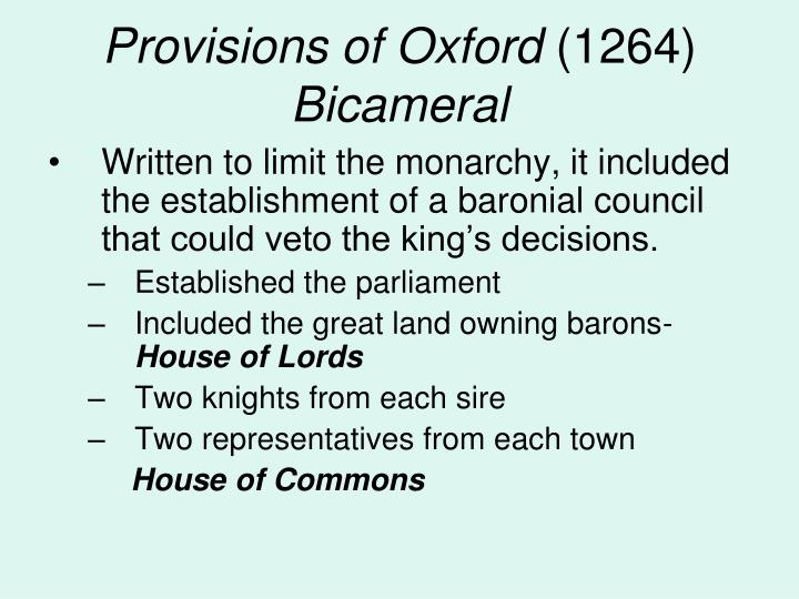 Provisions of Oxford