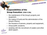 responsibilities of the group executive por 3 23b
