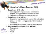 scouting s vision towards 2018