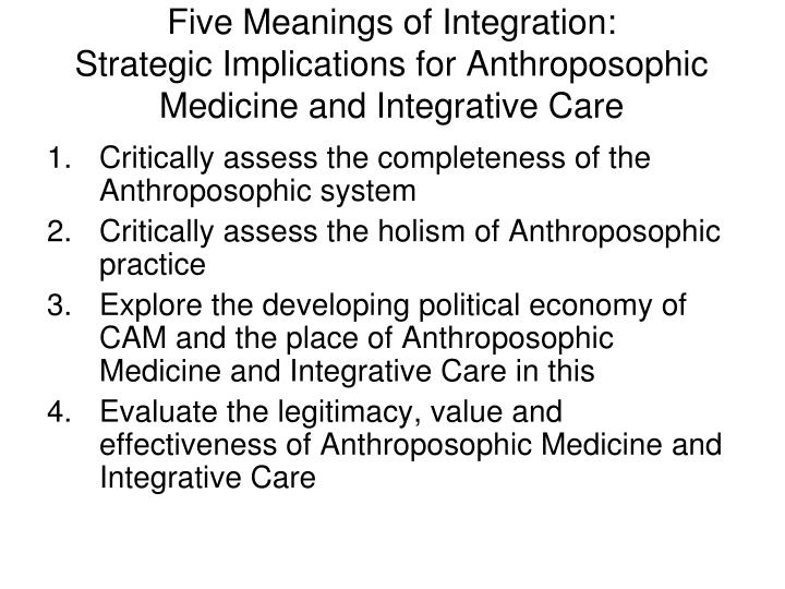 Five Meanings of Integration: