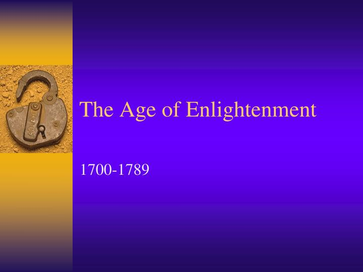 an introduction to the history of the age of enlightenment