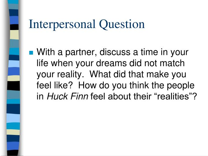 Interpersonal Question