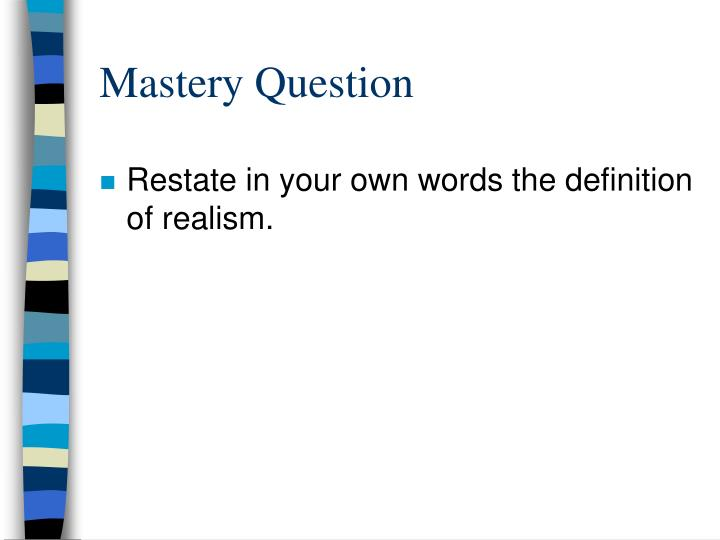 Mastery Question