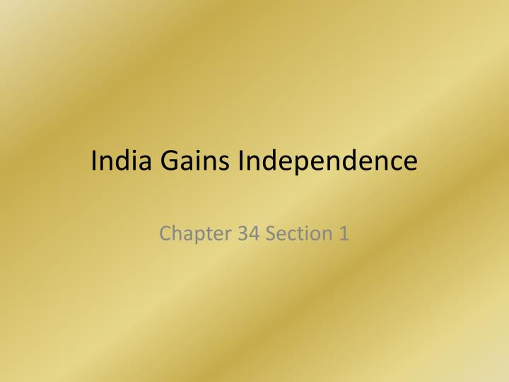 india gains independence n.
