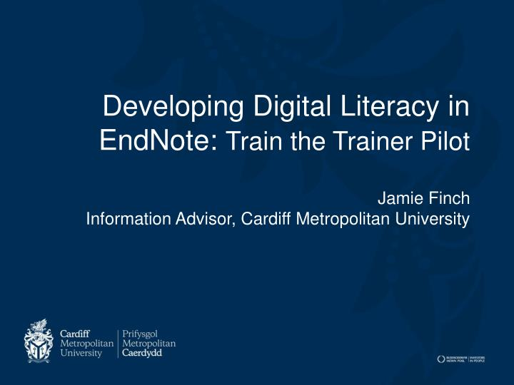 Developing Digital Literacy in EndNote: