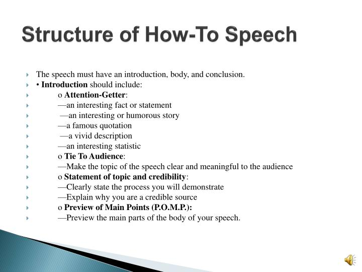 Structure of How-To Speech