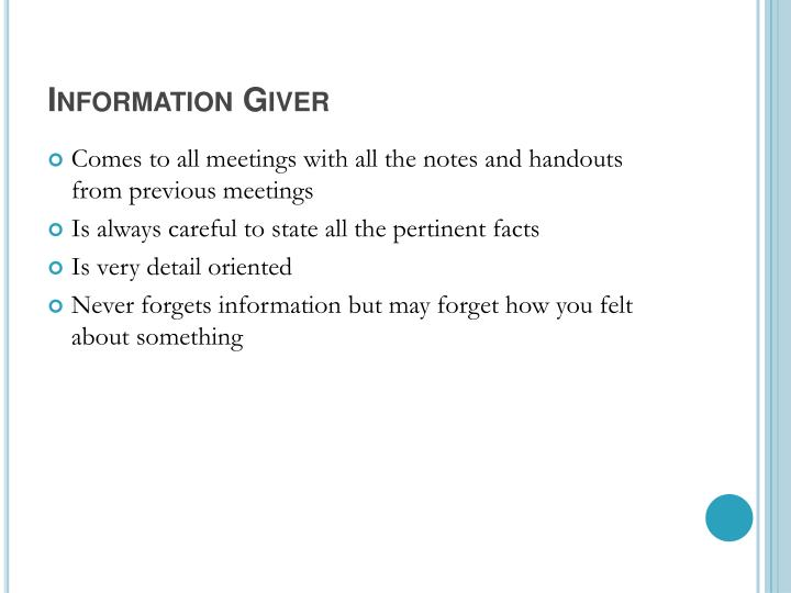 Information Giver